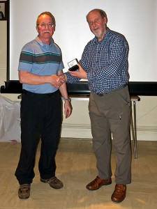 Gwynfryn accepts the award from Fred Davies